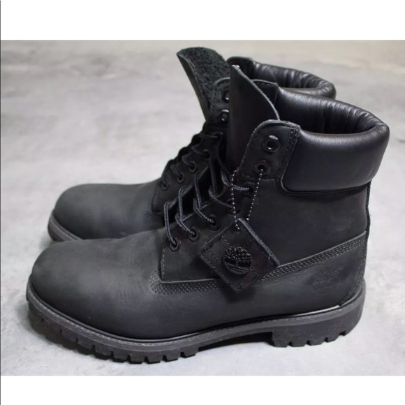 1329a53079e7 Timberland Boots Black Nubuck Leather MensSize 9.5.  M 5b1de9cf4ab633ae2cd811f1